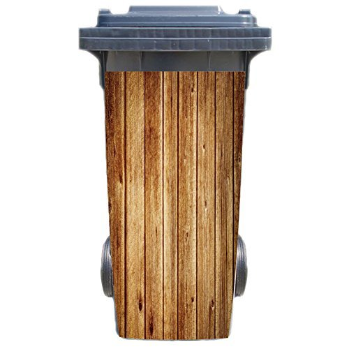 aufkleber fuer muelltonne muelltonnenaufkleber motiv holzpalisade - Aufkleber für Mülltonne Mülltonnenaufkleber - Motiv Holzpalisade