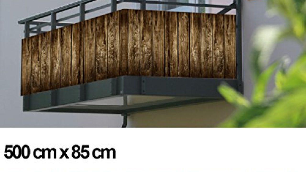 Balkon Sichtschutz Sichtschutz Dekor Balkon Dekor Motiv Holzpalisade