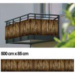 Balkon Sichtschutz Sichtschutz Dekor Balkon Dekor – Motiv Holzpalisade