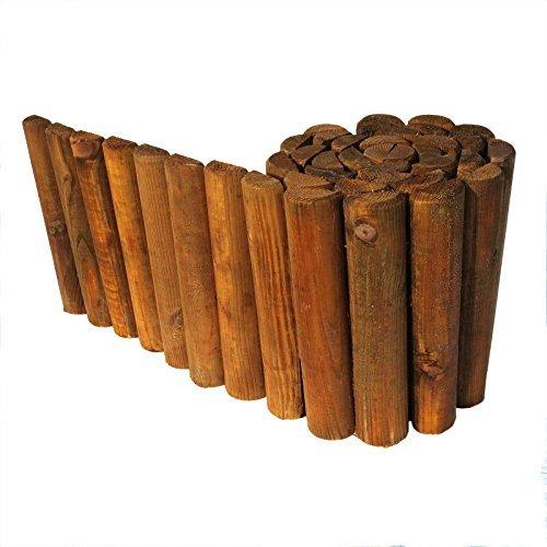 gartenpirat beetumrandung rasenkante aus holz beetzaun 30 cm hoch 250 cm lang - Gartenpirat Beetumrandung Rasenkante aus Holz Beetzaun 30 cm hoch 250 cm lang