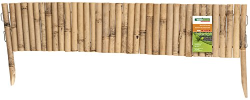 windhager beeteinfassung bambus typ 3 flexibel steckzaun rasenkante beetumrandung palisade 100 x 20 35 cm 06491 - Windhager Beeteinfassung BAMBUS TYP3 Flexibel; Steckzaun Rasenkante Beetumrandung Palisade, 100 x 20/35 cm, 06491