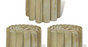 vidaXL 3X Holz Rollboarder 250x20cm Beetumrandung Rasenkante Beeteinfassung 310x165 - vidaXL 3X Holz Rollboarder 250x20cm Beetumrandung Rasenkante Beeteinfassung