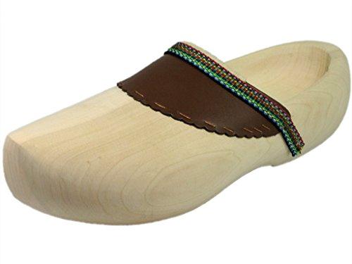 HOLZSCHUHVERSAND Unisex Holzschuhe Comfort - bequem - vielseitig, Beige, Größe: 36